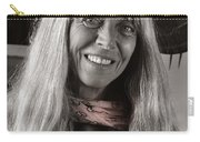 Lady With A Scarf Carry-all Pouch by Ron Cline