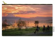 Lake Chapala Sunset And Horses Carry-all Pouch