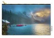 Lake Louise Canoes In The Morning Carry-all Pouch