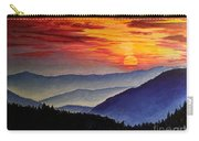 Laurens Sunset And Mountains Carry-all Pouch