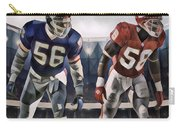 Lawrence Taylor New York Giants And Derrick Thomas Kansas City Chiefs Abstract Art 1 Carry-all Pouch