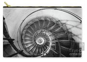 Lblack And White View Of Spiral Stairs Inside The Arch De Triump Carry-all Pouch