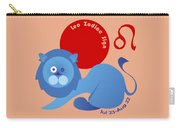 Leo - Lion Carry-all Pouch by Ariadna De Raadt