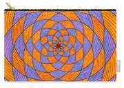 Light Violet On Blue, Yellow On Red Fractal Pattern Carry-all Pouch