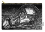 Lightbulb Black And White Carry-all Pouch