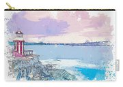 Lighthouse, Sydney, Australia -  Watercolor By Ahmet Asar Carry-all Pouch