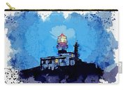 Lighthouse, Watercolor, C2019, By Adam Asar - 19 Carry-all Pouch