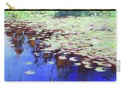 Lilies On Blue Water Carry-all Pouch