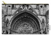 Lincoln Cathedral Side Entrance Monochrome Carry-all Pouch by Scott Lyons