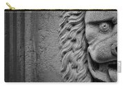 Lion Statue Portrait Carry-all Pouch by Nathan Bush
