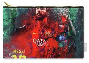 Lionel Messi In Barcelona Kit Carry-all Pouch