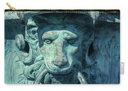 Lions Head On Flower Planter Carry-all Pouch