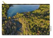 Litte Traverse Lake Vertical Panorama Carry-all Pouch