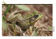 Little Green Frog Carry-all Pouch by William Selander