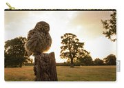 Little Owl Sunset Carry-all Pouch