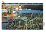 lobster pots and trawlers at Dunbar harbour Carry-all Pouch