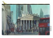 London City Bank Area In Sunny Autumn Carry-all Pouch by Martin Davey
