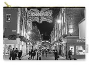 London Nightlife Carnaby Street London Uk United Kingdom Black And White Carry-all Pouch