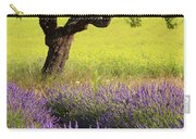 Lone Tree In Lavender And Mustard Fields Carry-all Pouch by Brian Jannsen