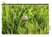 Lonely Little Mushroom Floating On The Grass Carry-all Pouch