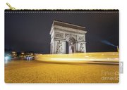 Long Exposure Picture Of Paris Arch De Triomphe At Night   Carry-all Pouch
