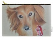 Long Haired, Miniature Dachshund Carry-all Pouch