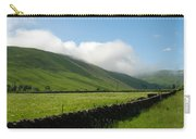 looking down Ettrick valley in Selkirkshire in summer Carry-all Pouch