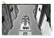 Looking Up - City Hall Court Yard In Black And White Carry-all Pouch