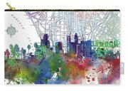 Los Angeles Skyline Map Watercolor 3 Carry-all Pouch