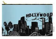 Los Angeles Skyline Panorama Blue Carry-all Pouch