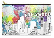 Los Angeles Skyline Panorama Watercolor Carry-all Pouch