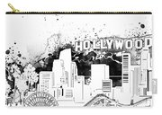 Los Angeles Skyline Panorama White Carry-all Pouch
