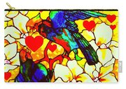 Love Birds In The Love Tree With Hibiscus Carry-all Pouch