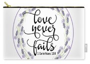 Love Never Fails' Carry-all Pouch by Judy Hall-Folde