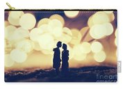 Loving Couple Standing In A Cozy Winter Scenery. Carry-all Pouch