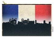 Lyon France City Skyline Flag Carry-all Pouch