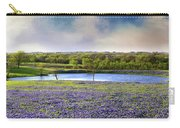 Mach Road Blubonnet Panorama In Evening Light Carry-all Pouch