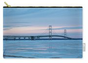 Mackinac Bridge In Ice 2161803 Carry-all Pouch by Rick Veldman