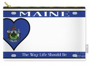 Maine State License Plate Carry-all Pouch