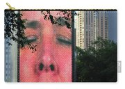 Man Face Crown Fountain Chicago Carry-all Pouch