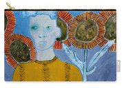 Man With Sunflowers Carry-all Pouch