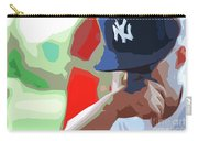 Man With Yankees Cap Carry-all Pouch