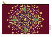 Mandala Flowering Series#2. Terracotta Carry-all Pouch