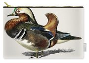 Mandarin Duck  Aix Galericulata Illustrated By Charles Dessalines D' Orbigny  1806-1876 1 Carry-all Pouch