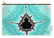 Mandelbrot Fractal Black Aqua White Vertical Carry-all Pouch