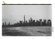 Manhatta, New Jersey And The Statue Of Liberty Carry-all Pouch