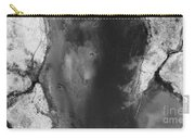 Manistee River Aerial Black And White Panorama Carry-all Pouch