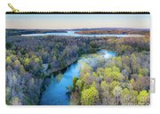 Manistee River Evening Aerial Carry-all Pouch