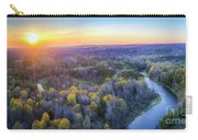 Manistee River Sunset Aerial Carry-all Pouch