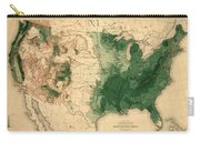 Map Of American Forests 1883 Carry-all Pouch